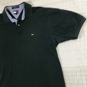 Tommy Hilfiger Polo Green Short Sleeve Shirt Large